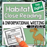 Digital Close Reading Passages on Habitats   Informational