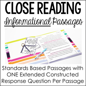 Informational Close Reading Passages