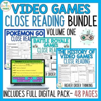 BUNDLE Close Reading Passages Text Dependent Questions - V