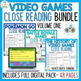 Video Games Close Reading Comprehension Passages and Quest