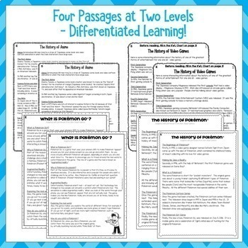 Video Games Reading Comprehension Passages and Questions US NZ