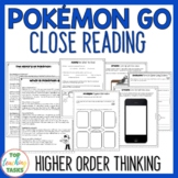 Pokemon Go Reading Passages with Higher Order Thinking Que