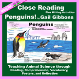 Close Reading: Penguins! by Gail Gibbons