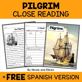 Close Reading Passage - Pilgrim Activities