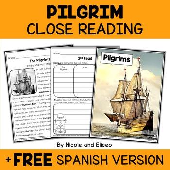 Pilgrim Close Reading Passage Activities
