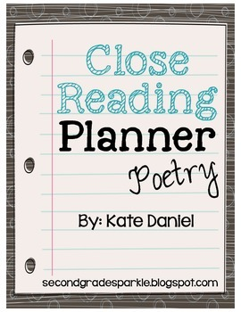 Close Reading Planner - Poetry {Freebie}