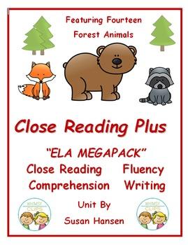 Close Reading Plus: ELA Megapack on Forest Animals