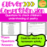 Reading Comprehension Passage and Questions: Poetry