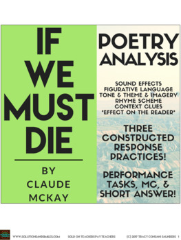 """Close Reading Practice: McKay's """"If We Must Die"""" (Plus Constructed Response!)"""