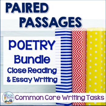 Poetry Close Reading and Writing Tasks Bundle