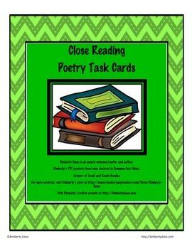 Close Reading Poetry Task Cards