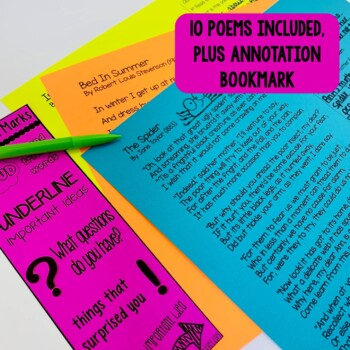 Close Reading Poetry Through the Year: Printable & Digital for Distance Learning