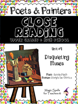 Close Reading Poetry and Art - Disquieting Muses - De Chirico - Unit #9 JHS & HS