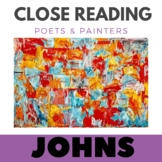 Close Reading Poetry and Art - Map - Jasper Johns - Unit # 2 Primary Grades