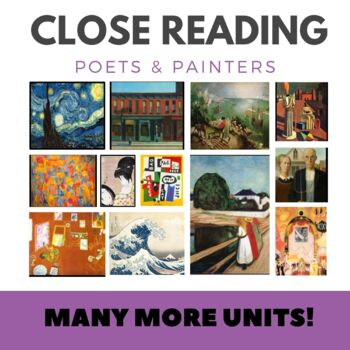 Close Reading Poetry and Art -Self Portrait w/Monkey -Kahlo -Unit #13 Primary Gr