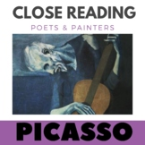 Pablo Picasso -Close Reading Poetry & Art -The Old Guitarist-Unit #12 Primary Gr