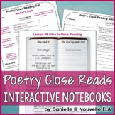 Close Reading Poetry for Interactive Notebooks