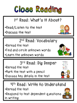 Close Reading Poster {FREEBIE}