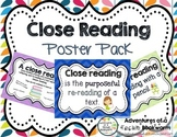 Close Reading- Poster Pack