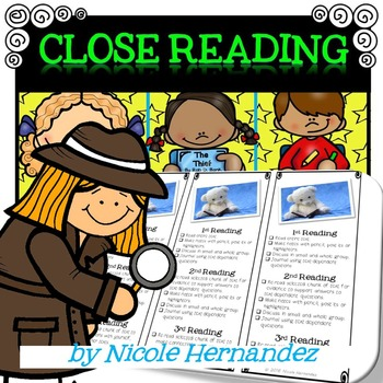 Close Reading Posters Bookmarks and Student Sheets