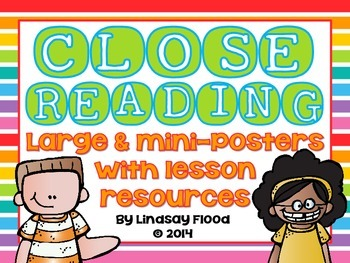 Close Reading Posters & Lesson Resources