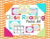Close Reading Posters and Recording Sheets