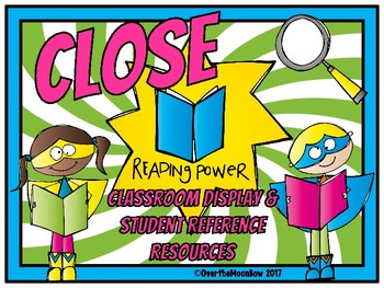 Close Reading Power | Primary Display Chart & Resources