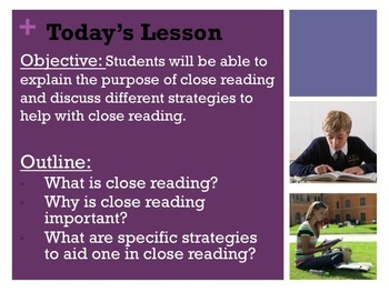 Close Reading of Informational Texts Powerpoint Presentation - CCSS Aligned