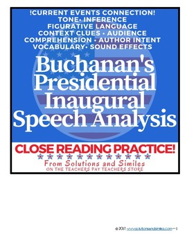 Close Reading Speech Analysis: Buchanan's Inaugural Speech