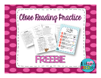 Close Reading Practice Passages