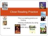 Close Reading Practice