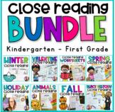Close Reading Printables the BUNDLE- (Kindergarten and Fir