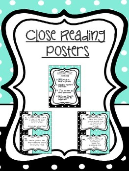 Close Reading Process Posters