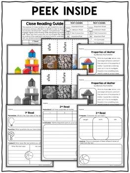 Close Reading Passage - Properties of Matter Activities