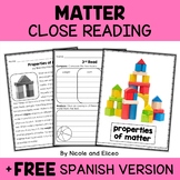 Properties of Matter Close Reading Passage Activities