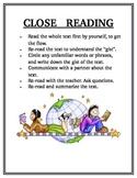 Close Reading Protocol Achor Chart