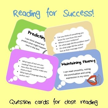Close Reading Question Cards