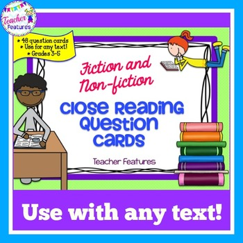 Close Reading Question Cards for Fiction & Nonfiction