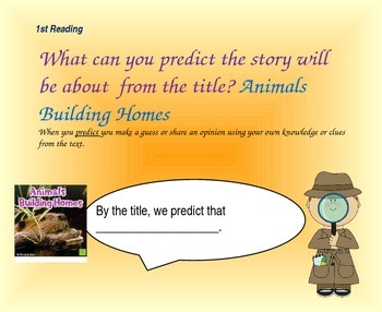 Close Reading Question Slides for Animals Building Homes