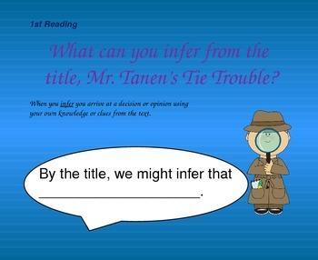 Close Reading Question Slides for Mr. Tannen's Tie Trouble