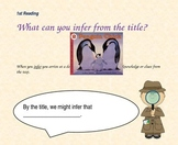 Close Reading Question Slides for Penguin Chick