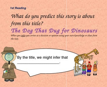 Close Reading Question Slides for The Dog that Dug for Dinosaurs
