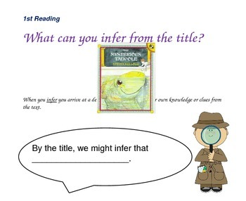 Close Reading Question Slides for The Mysterious Tadpole