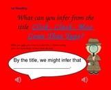 Close Reading Questioning Slides for Click, Clack, Moo