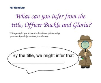 Close Reading Questioning Slides for Officer Buckle and Gloria