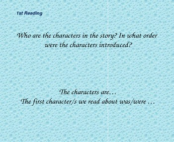 Close Reading Questioning Slides for The Goat in the Rug