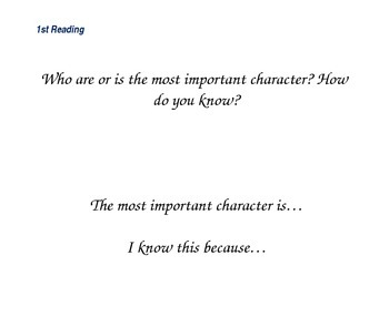 Close Reading Questioning Slides for Two of Everything