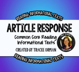 Close Reading Article Review Questions For Any NonFiction Text