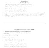 Close Reading Questions for excerpts of Emerson's Self-Reliance