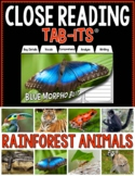 Close Reading - Rainforest Animals